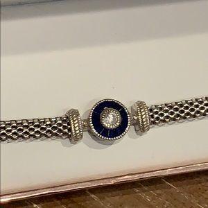 Sterling Silver Blue Crystal Bracelet
